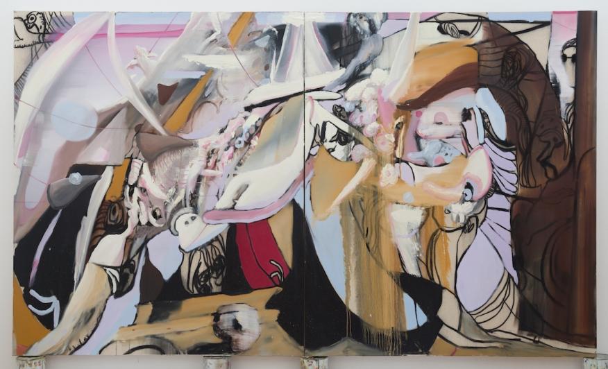 Haptic Boaty oil on canvas 190x320cm
